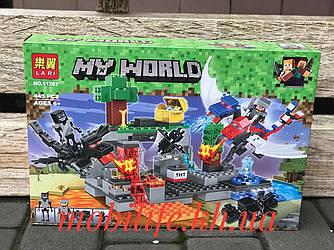 Конструктор Майнкрафт Minecraft дет 445/Конструктор my world Битва Драконов/Высокое Качество/