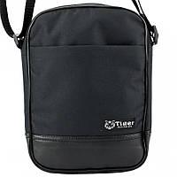 Мужская сумка через плечо STR Black черная, фото 1