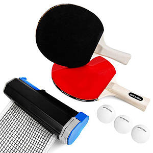 Набор для настольного тенниса Spokey Roll Joy 928663 (original), 2 ракетки+3 мячика+сетка