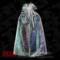 Белый полупрозрачный подарочный мешочек 25х38(33) см из органзы