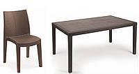 Набор стол Prince+6 кресел Lady производство Италия цвет Коричневый