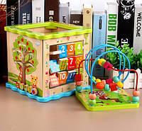 Детская деревянная интерактивная игрушка уникуб подарок для мальчика и девочки
