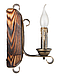 Бра деревянная для дачи на одну свечу 670321, фото 2