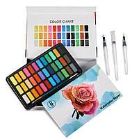 Подарочный набор Акварельные краски Professional Paint Set 36 цветов в металлическом пенале + подарок