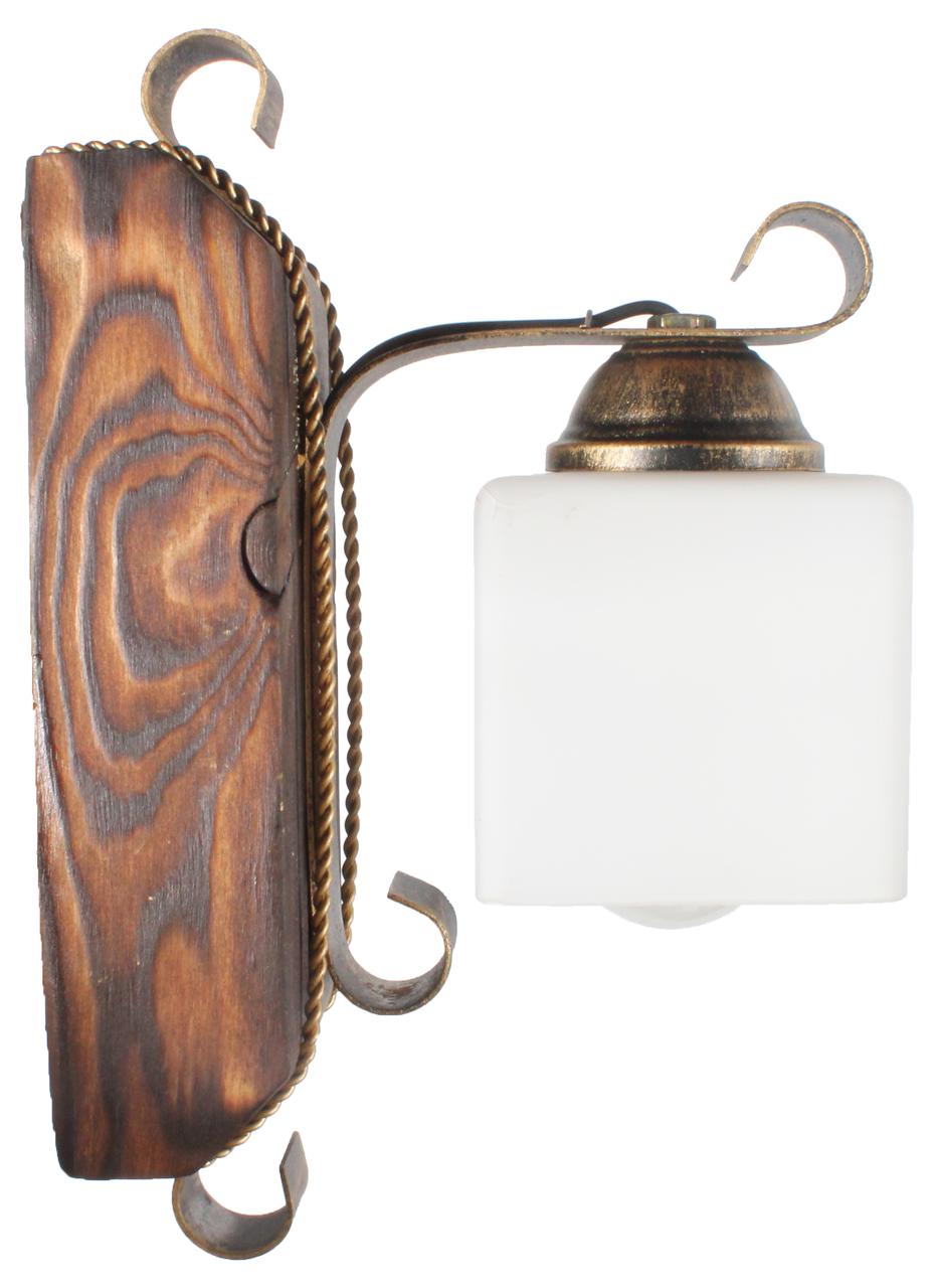 Бра деревянная в стиле лофт на 1 плафон 670311