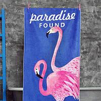 Пляжное полотенце с принтом Paradise found 150х70 см (PLB_21J009)