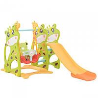 """Горка """"Жираф"""" с качелей Toti 07-603 Зеленая"""