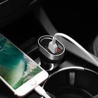 АЗУ 2USB Hoco Z29 Display Black/Silver 3.1A + Cigarette Lighter Car