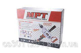 Міксер будівельний MPT - 800 Вт 1 шт., фото 2