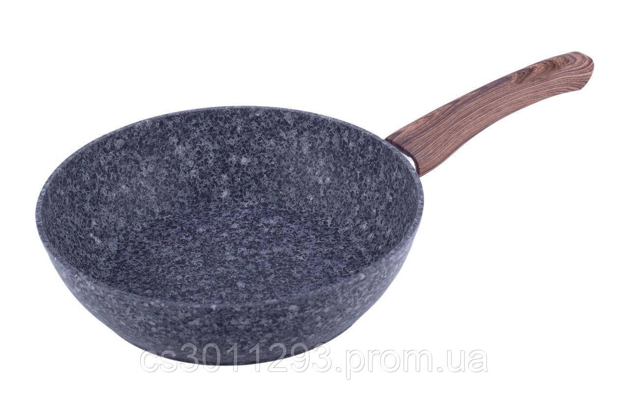 Сковорода антипригарная Kamille - 240 мм Granite глубокая 1 шт.