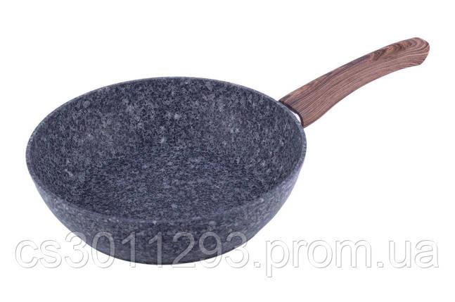 Сковорода антипригарная Kamille - 240 мм Granite глубокая 1 шт., фото 2