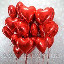 Латексні сердечка фольговані