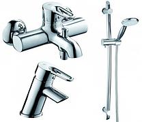 Комплект смесителей для ванной, умывальника и душ со стойкой Armatura (KFA) Bazalt 4701-000-00 Польша