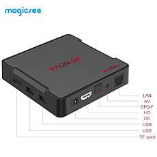 Смарт ТВ медиа приставка Magicsee N5 NOVA 4/64GB Smart TV Box RK3318 Android 9.0 Смарт ТВ бокс, фото 3