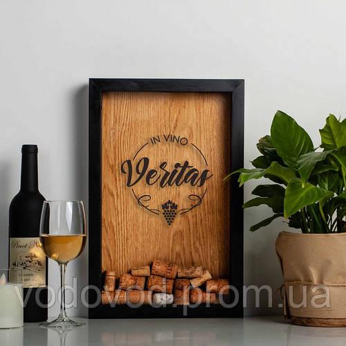 "Картинка товара Копилка для винных пробок ""In vino veritas"" white-brown"