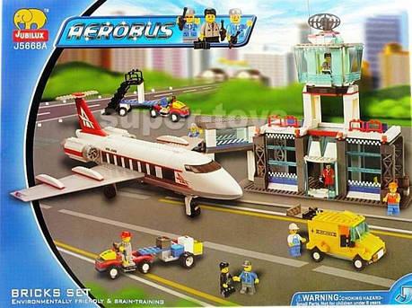 Конструктор JUBILUX J 5668 А аэропорт, самолет, фото 2