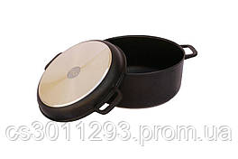Кастрюля антипригарная Biol - 200 х 136 мм х 2 л с крышкой-сковородкой