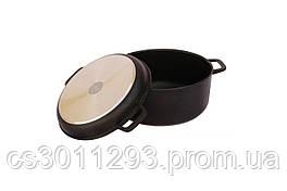 Кастрюля антипригарная Biol - 260 х 161 мм х 5 л с крышкой-сковородкой