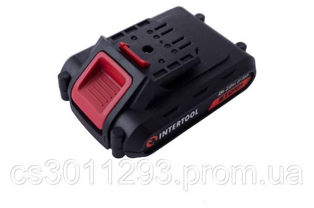 Акумулятор для шуруповерта Intertool - 18В x 2,0 Ач Storm (WT-0313/0314/0317) 1 шт., фото 2