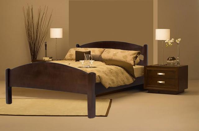 Ліжка двоспальні з дуба