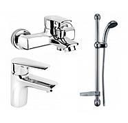Комплект смесителей для ванной, умывальника и душ со стойкой Armatura (KFA) German 4511-001-00 Польша