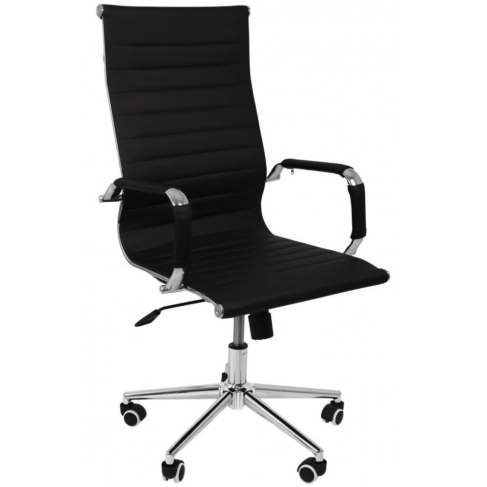 Крісло офісне комп'ютерне Bonro B-625H екошкіра робоче для комп'ютера офісу дому