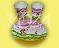 """Комплект одноразовой бумажной посуды """"Детский"""" 100шт/уп"""