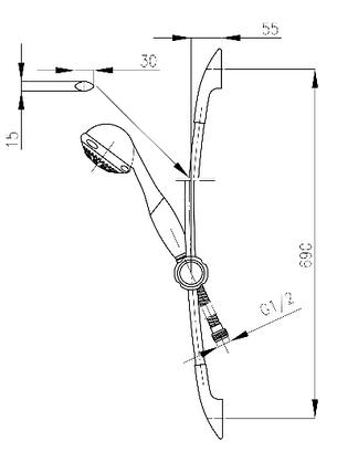 Комплект смесителей для ванной, умывальника и душ со стойкой Armatura (KFA) KWARC 4201-000-00 Польша, фото 2