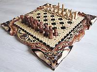Эксклюзивные шахматы-нарды-шашки ручной работы
