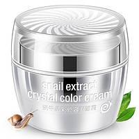Кришталева основа під макіяж Rorec Snail Extract Crystal Color Cream 50мл