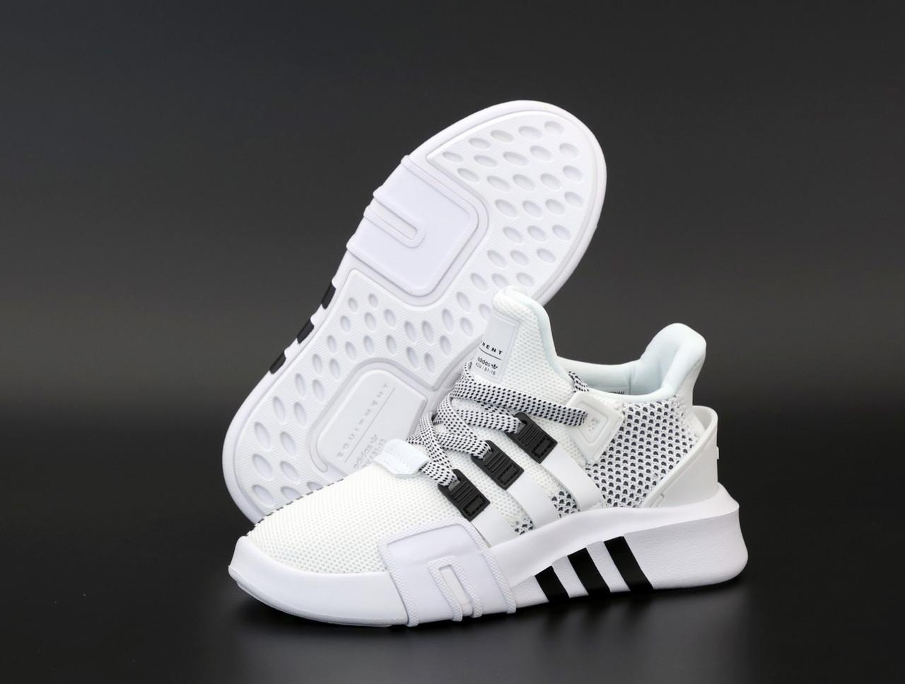 Женские кроссовки Adidas EQT ADV. Белые. ТОП Реплика ААА класса.