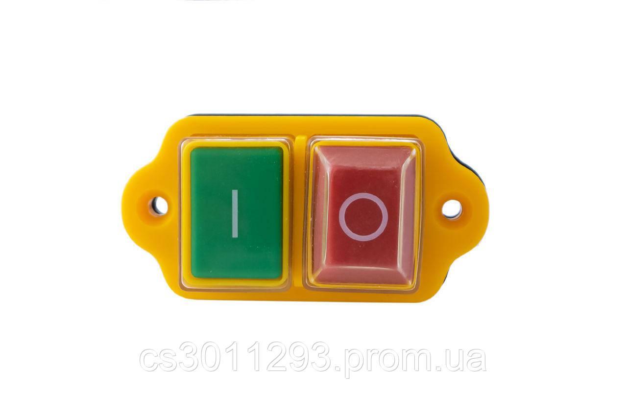 Кнопка бетономішалки Асеса - 5 контатктов жовта 1 шт.