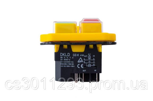 Кнопка бетономешалки Асеса - 5 контатктов желтая, фото 2