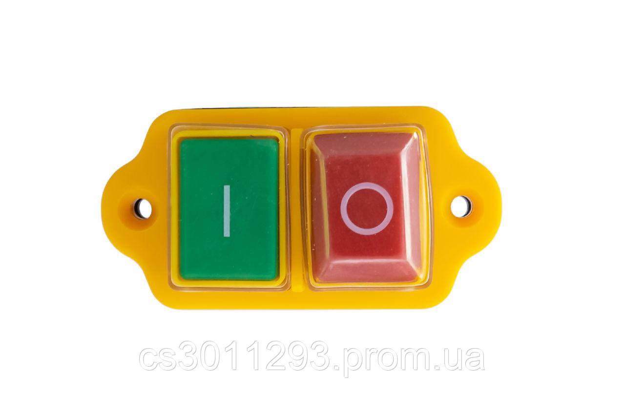 Кнопка бетономішалки Асеса - 5 контактів жовта 1 шт.