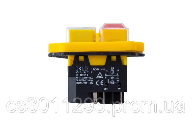 Кнопка бетономішалки Асеса - 5 контактів жовта 1 шт., фото 2