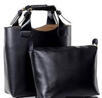 Супер модная сумка в стиле Zara + Косметичка ,черная