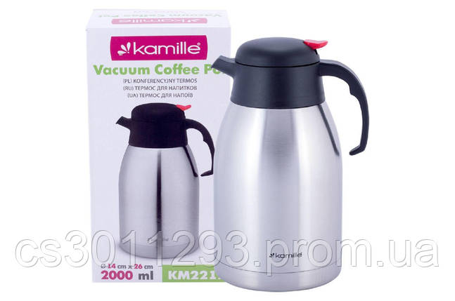 Термокувшин Kamille - 2000 мл, фото 2