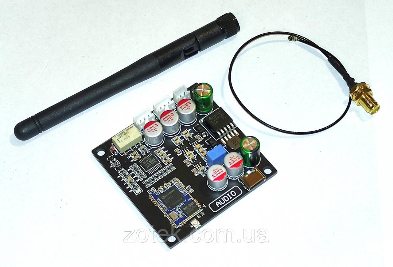 Bluetooth 5.0 QCC3031 Блютуз аудіо приймач ресивер aptX-HD зовнішня антена 5-32В