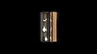 Навісна шафа колекції Енкель в стилі лофт, з натурального дерева в комбінації з склом, фото 5