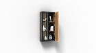 Навесной шкаф коллекции Энкель в стиле лофт, из натурального дерева в сочетании со стеклом, фото 6
