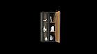 Навісна шафа колекції Енкель в стилі лофт, з натурального дерева в комбінації з склом, фото 6