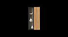 Навісна шафа колекції Енкель в стилі лофт, з натурального дерева в комбінації з склом, фото 8
