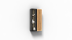 Навісна шафа колекції Енкель в стилі лофт, з натурального дерева в комбінації з склом, фото 10