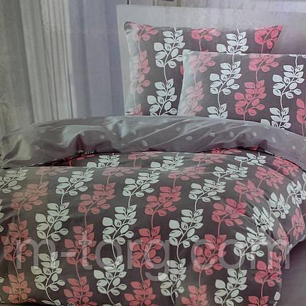 """""""цветочное"""" постельное белье Elway Premium евро размер 200*220 см, ткань сатин 100% хлопок, фото 2"""