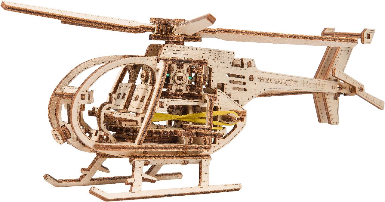 Деревянная 3D модель WOODEN.CITY Вертолет