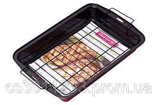 Форма для выпечки Kamille - 375 x 260 x 50 мм с решеткой 6001, фото 2