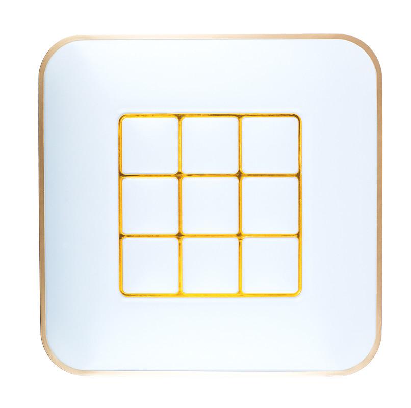 Светильник светодиодный потолочный 70w квадрат Золотой обод Smart SUNLED (R-Q450-01S)