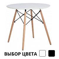 Столик обідній кухонний Bonro В-957-800 круглий стіл для кухні (Столік обідній кухонний нерозкладний 80х75)