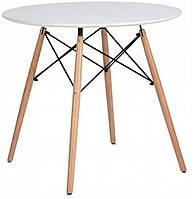 Столик обідній кухонний Bonro В-957-700 круглий стіл для кухні (Столік обідній кухонний нерозкладний 70х72)