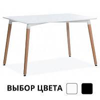 Столик обідній кухонний Bonro В-950-1200 для кухні кафе (Столик обідній стіл кухонний 120х80х75) Білий